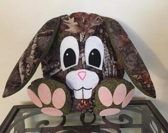 Camo Handmade Stuffed Bunny