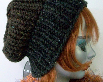 HAT WOMEN KNITTED  Ribbed Slouchy Males Beanie Boyfriends Gift Xmas Knit Hat