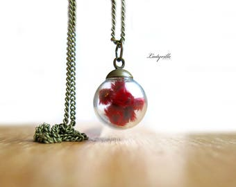 Necklace - Red Blossoms