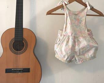 Vintage floral toddler overalls, toddler romper, hippie kids romper, toddler jumper, 2T-4T romper, adjustable boho overalls, hippie kids,