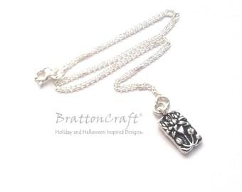 Silver Lotus Flower Necklace - Floating Lotus Necklace - Spiritual Necklace - Yoga Necklace - Serenity Necklace
