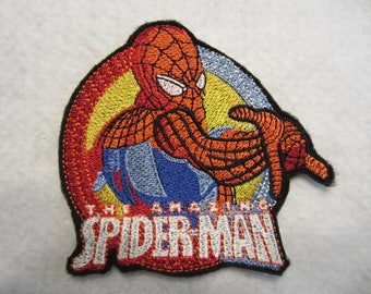 Embroidered Spiderman Iron On Patch, Iron On Patch, Spiderman, Super Hero, Super Hero Patch, Spiderman Patch