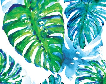 Jungle Print Archival Wall Art print botanical watercolour