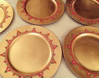 Mehndi Thaals Uk : Mehndi plates thaal candles ebay