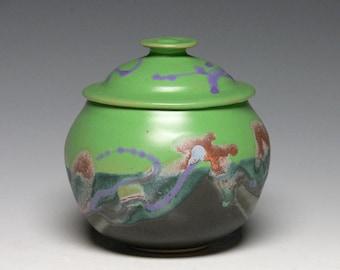 Small Keepsake Urn, Pet Urn, Lidded Jar, Pottery Sugar Bowl, Stoneware Storage Jar, Memorial Urn