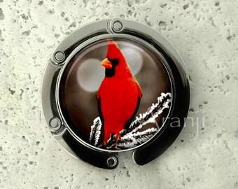 Cardinal purse hanger, tabletop purse hanger, purse hanger, purse hook, cardinal purse hook, cardinal purse hanger, cardinal, AN156PH