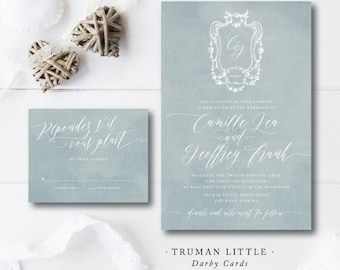 Truman Little Printed Wedding Invitations | Wedding Invitations | French Styled | Printed by Darby Cards Collective