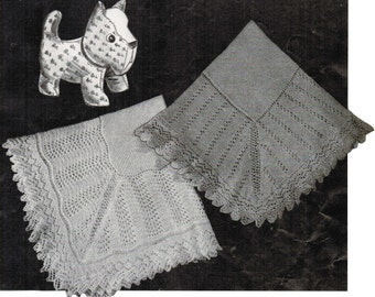 Cute 'n' Cozy Set of 2 Baby Shawl Patterns PDF / Set of 2 Monarch baby blanket patterns / PDF baby knitting patterns / Prinsesseteppet
