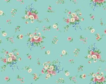 Dear Little World Bunny LW1970-14D Quilt Gate Cotton Fabric Tied Bouquets Mint