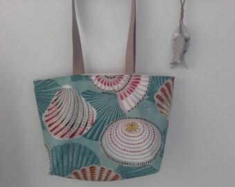 Big Starfish Turquoise beach bag