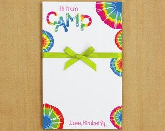 Tie Dye Camp Stationery