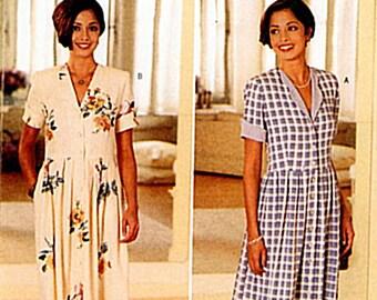 Sewing Pattern-Butterick 4385 Long Boho Chic Summer Dress Casual Dress  Size 12,14,16 Vintage 1996