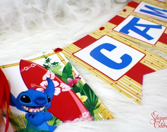 Lilo and Stitch Banner - Party Banner | Hanging Banner | Beach | Surfboard - PLEASE READ INSTRUCTIONS before purchasing