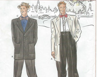 UNCUT Simplicity 8879 Sewing Pattern Retro Fashion Collection Zoot Suit Sewing Pattern SZ 46-52