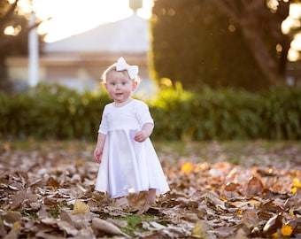 White baby blessing dress, Christening dress, Christening gown, flower girl dress, lds dress, special occasion dress, Nauvoo Dreams dress
