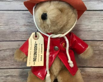 Vintage 70s Paddington Bear by Eden Toys