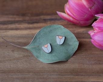 """Earrings """"beetle back mint-copper"""" by dearest sister"""