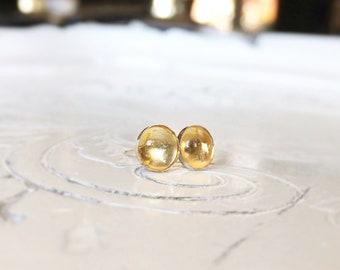 Citrine 925 sterling Silver earrings/Ear