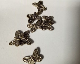 15pc Metal Butterflies Spacer Beads  for Beading Craft