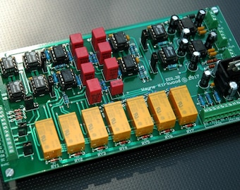 Elliptic Equalizer (Bass-to-Mono) for Vinyl Mastering, Vinyl Playback and Headphone Crossfeed. Assembled and Tested PC Board