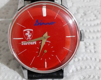Vintage Dino Ferrari watch Red Dial