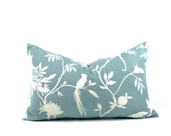 Spring chinoiserie pillow cover