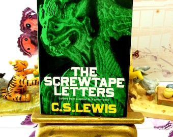 The Screwtape Letters C S Lewis Vintage Paperback Book 1970s from a Senior to Junior Devil