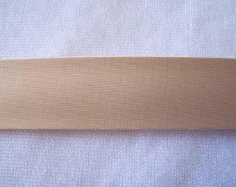 Light beige satin fabric, width 40/20 mm (S007)