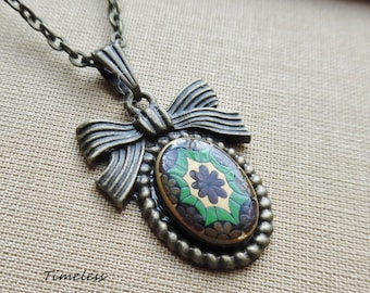 Clearance- Eliza, Necklace with Vintage Cameo,