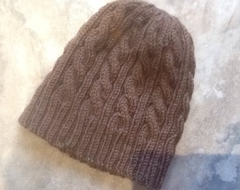 Cable Knit Hat, Handmade