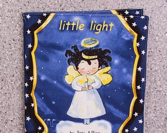 Cloth book, soft book, little light, toddler toy, quiet toy