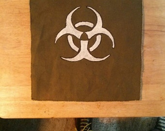 Hand made, hand painted Biohazard Butt flap