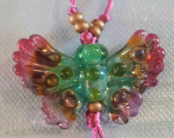 Colorfly Butterfly Glass Lampwork Bead