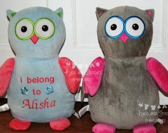 Personalised Cubbie Owl | Stuffed Owl | Hooty Lou