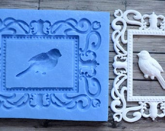 Best Quality Silicone Mold Frame With Bird Crafts Decorating Fondant