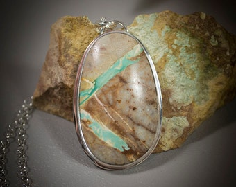 Royston Turquoise Sterling Silver Pendant  50-0120