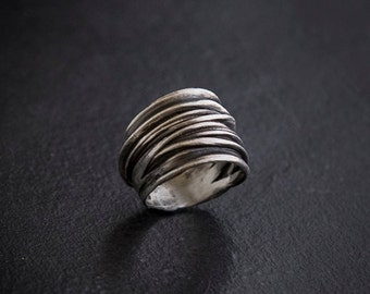 Silver Ancient Ring - Ethnic Silver Ring - Silver Tribal Ring