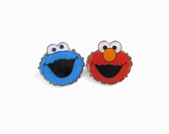 Elmo&Cookiemonster, Lapel pin Set