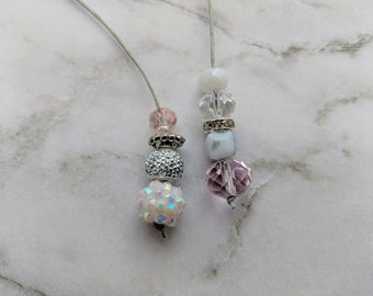 Planner Charm Bookmark / Pink and Marble