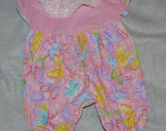 Pink Butterflies Pantsuit