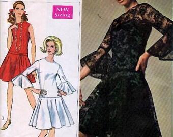 "Bust 34-1968 Misses' Dress and Slip  ""Designer Fashion""  Simplicity 7900  Size 12"
