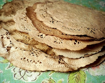6 inch Paper Doilies. Set of 25. Doily. Vintage Wedding. Anthropologie French Lace Doily. Wedding Travel Wedding Table Decoration. Rustic.