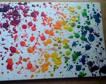 Original Rainbow crayon splatter