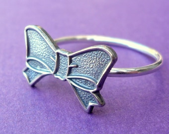 Sterling Silver and Brass Bow Ring Size 7