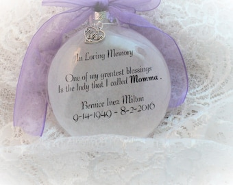 Memorial Christmas Ornament One of My Greatest Blessings, Free Personalization and Charm