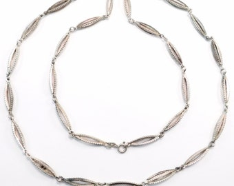 Ornate Link 900 Silver European Mid Century Chain Necklace