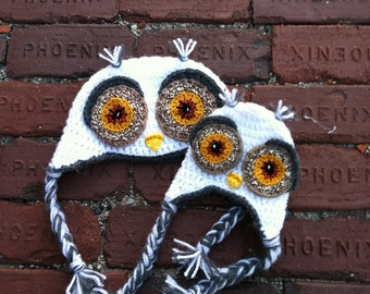 Adult Owl Hat in White