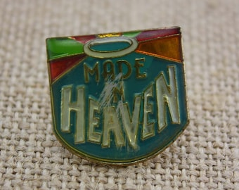 Made in Heaven - Enamel Pin by American Gag Bag Inc. - Vintage Novelty Pin c. 1980s