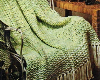 Afghan Knitting Pattern, Thick and Quick Simple Afghan Knitting Pattern,  PDF INSTANT Download Pattern (2016)
