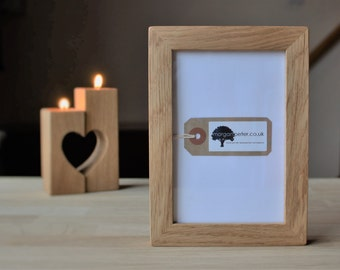 4x6 Oak frame - Wooden photo frame - for pics 4x6 - custom wood frames